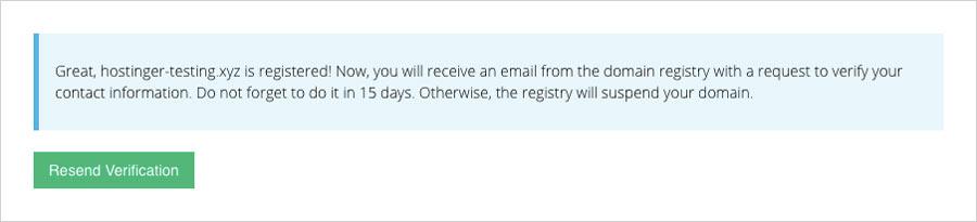 gửi lại đơn xác nhận chủ sở hữu tên miền