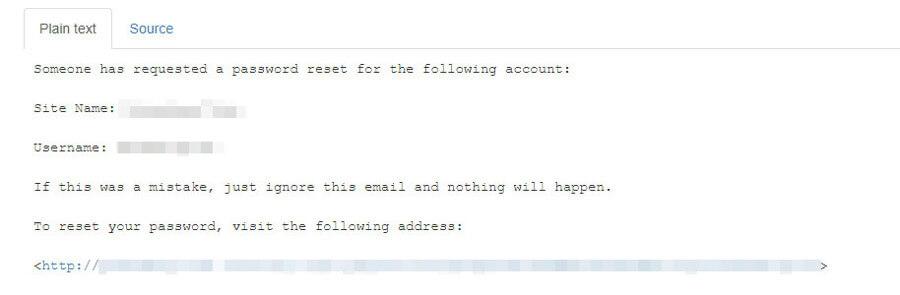 email thông báo reset password