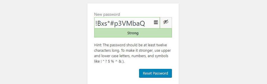lựa chọn tạo mật khẩu