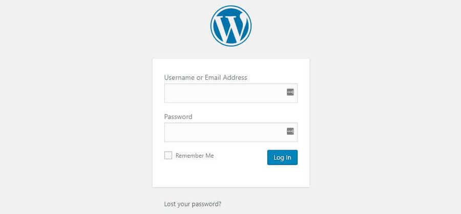 trang đăng nhập WordPress