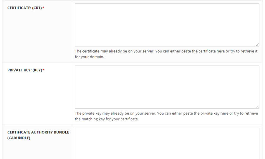 certificate private key