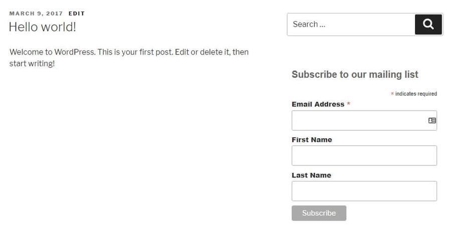 mẫu đăng ký email mới
