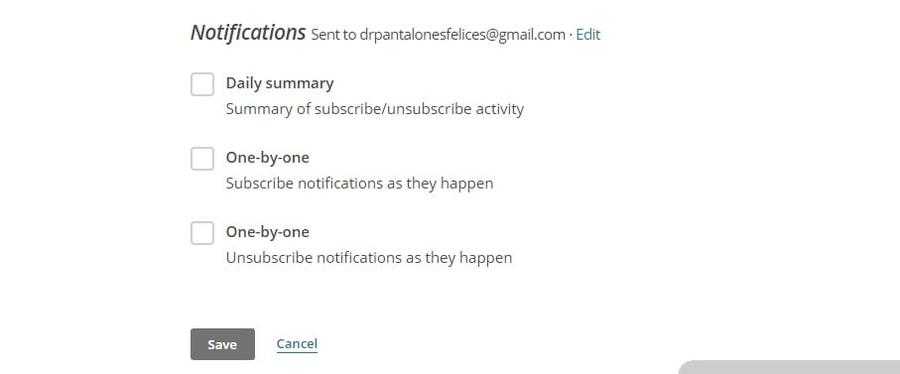 thông báo subscription