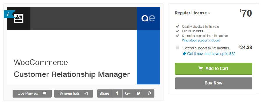 woocommerce-customer relationship manager
