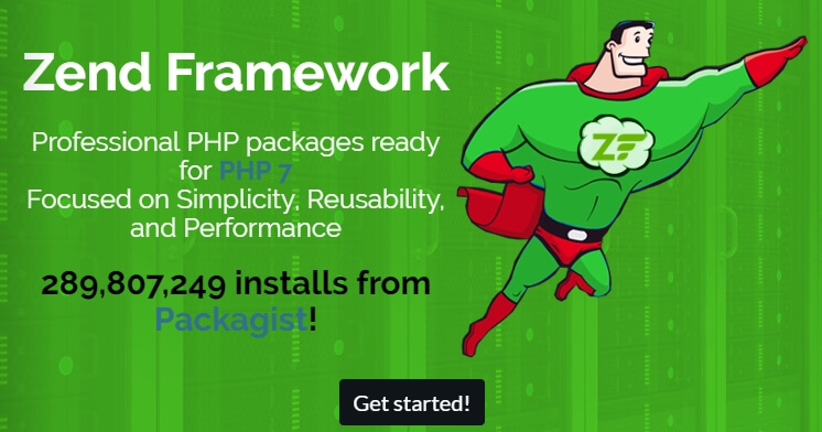 trang chủ zend framework