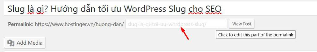 sửa wordpress slug