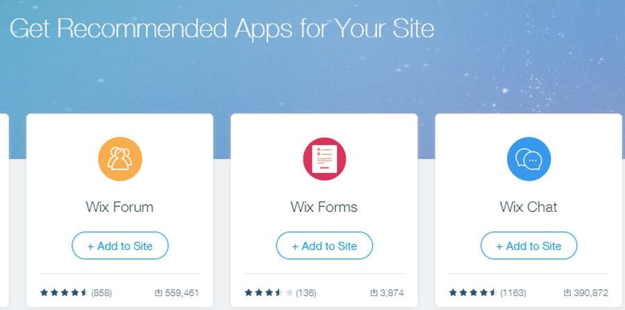ứng dụng của wix