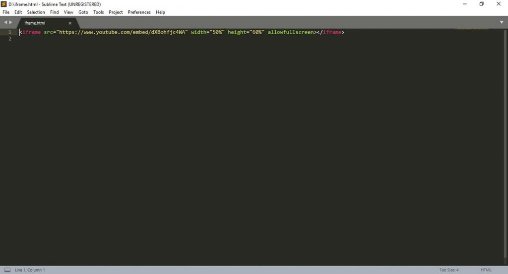 sublime html editor