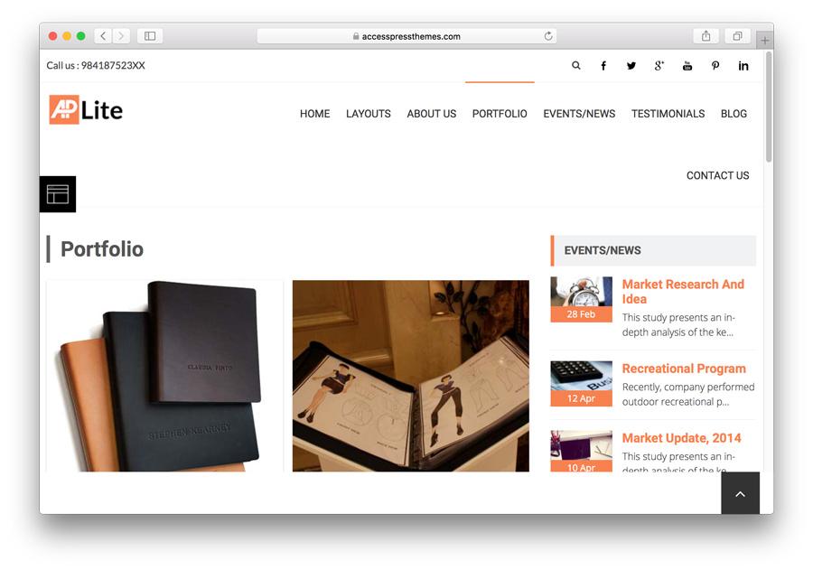 portfolio mẫu accesspress-lite