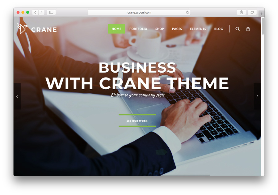 WordPress theme premium crane