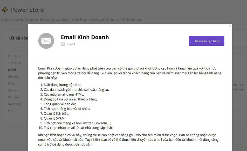 email kinh doanh