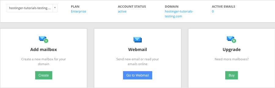 giao diện quản lý email công ty