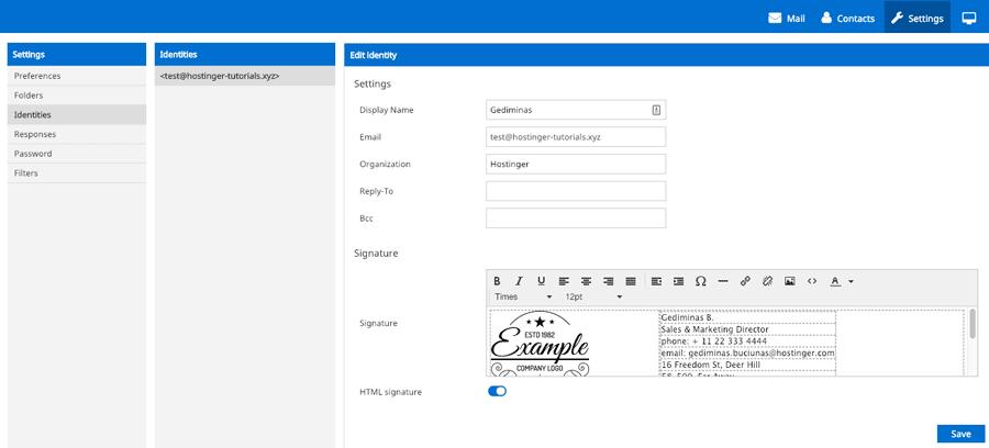 tạo chữ ký email