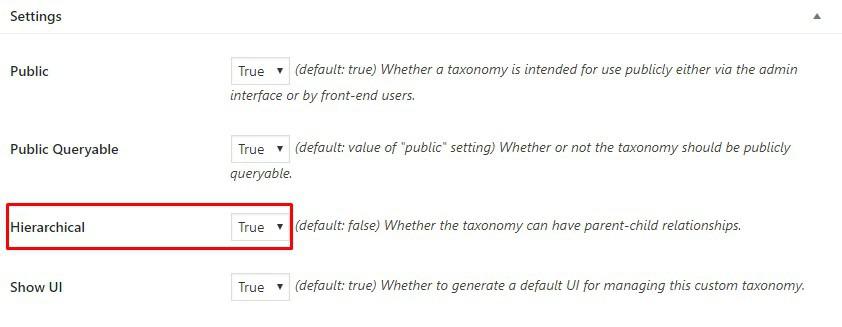 tạo wordpress taxonomy