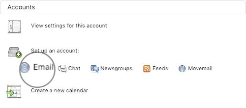 thêm tài khoản email vào thunderbird