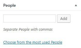WordPress taxonomy tag people