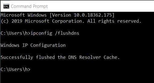 xóa cache dns để sửa lỗi dns_probe_finished_nxdomain