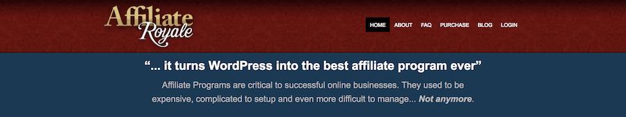 4 WordPress affiliate Affiliate Royale plugins