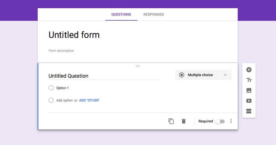 form google mới