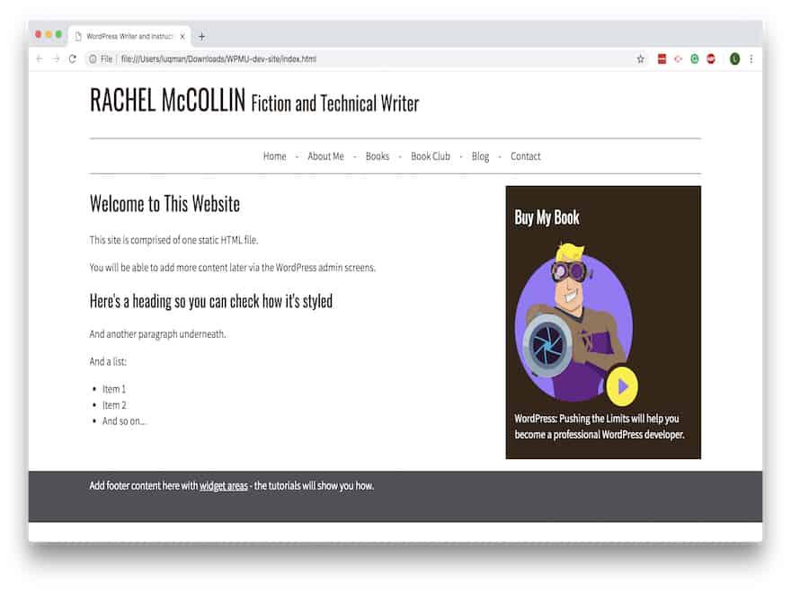 một website mẫu