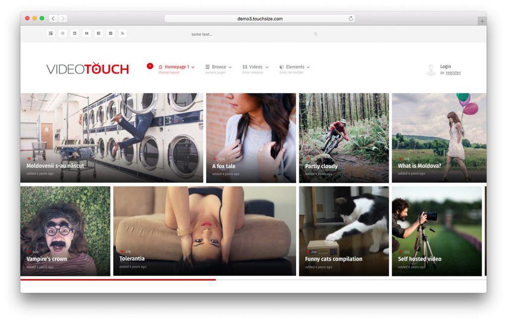 wordpress video theme videotouch