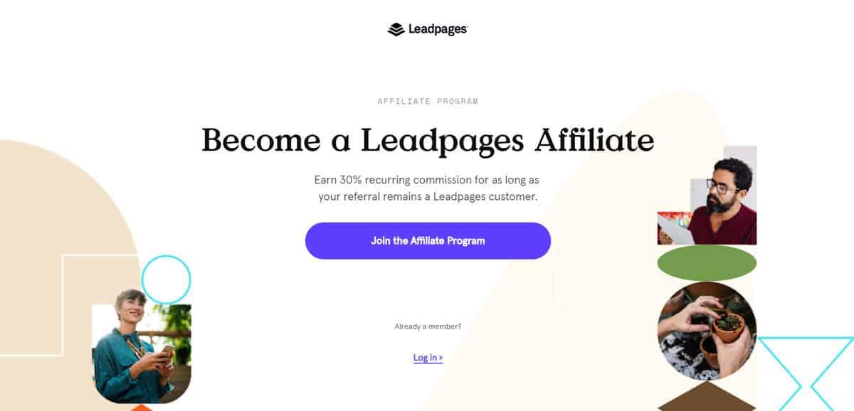 chương trình leadpages tiếp thị liên kết