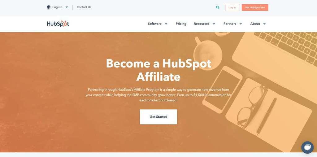 chương trình tiếp thị liên kết hubspot