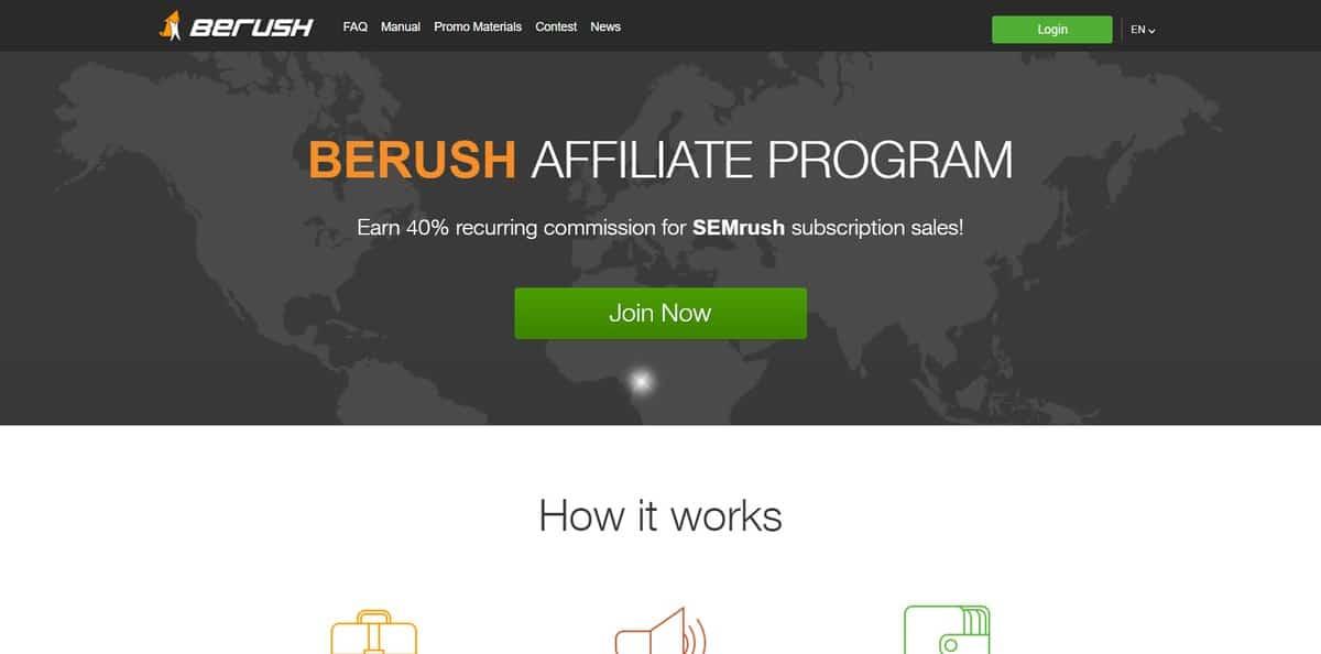 chương trình tiếp thị liên kết semrush