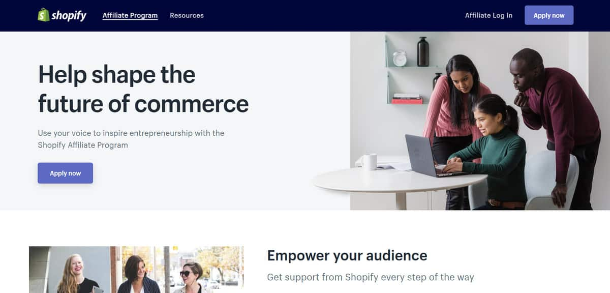chương trình tiếp thị liên kết shopify