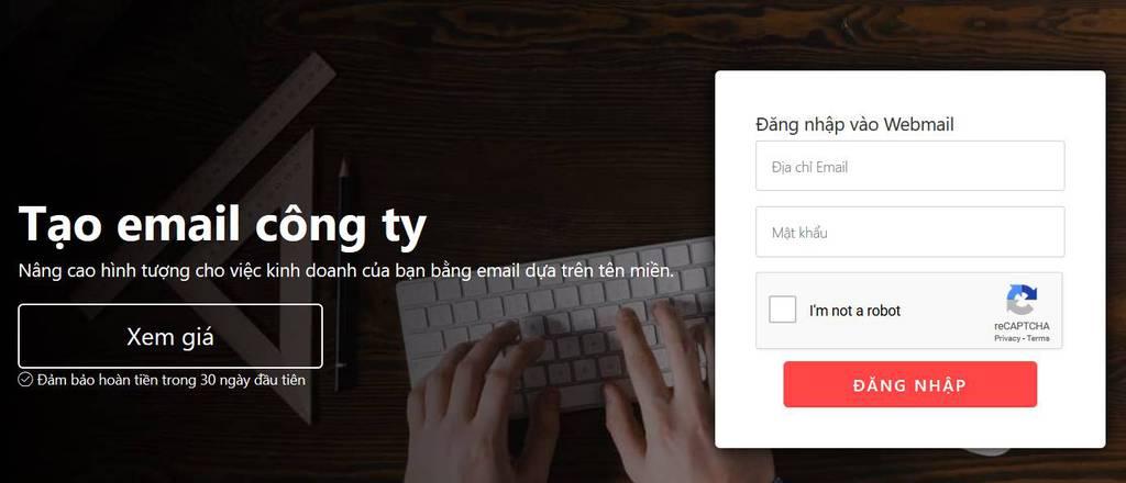 Log into webmail