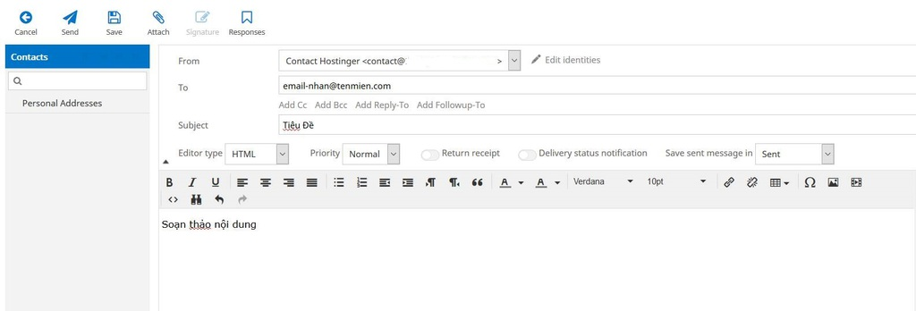 Compose email content