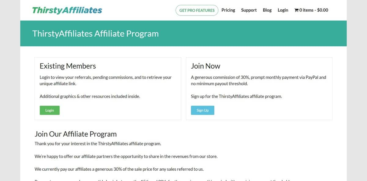 affiliate marketing thristy affiliate