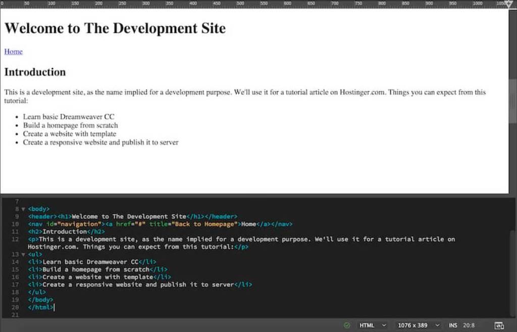 bullet points html dreamweaver