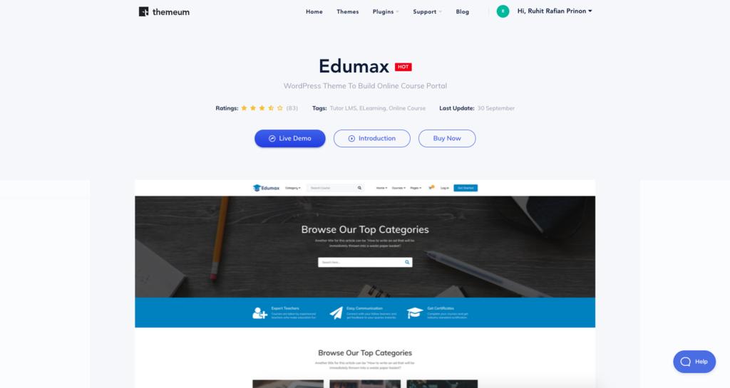 edumax theme