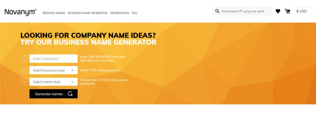 Brand name with novamym