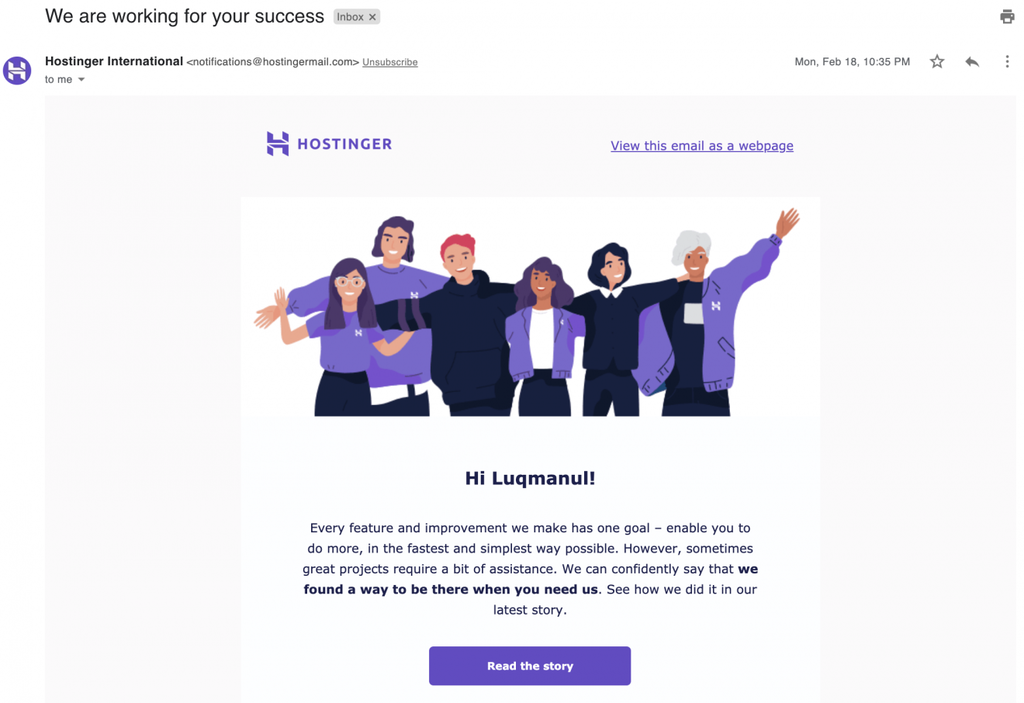 gửi bản tin bằng email marketing trên hostinger