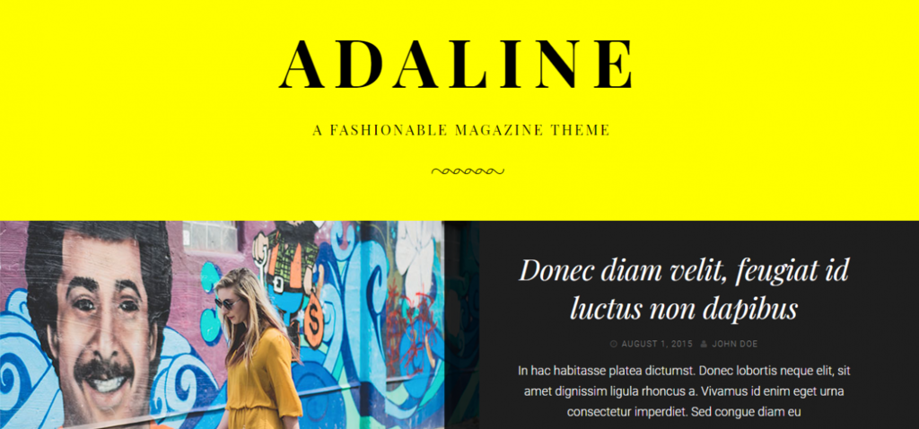 Adaline wordpress theme