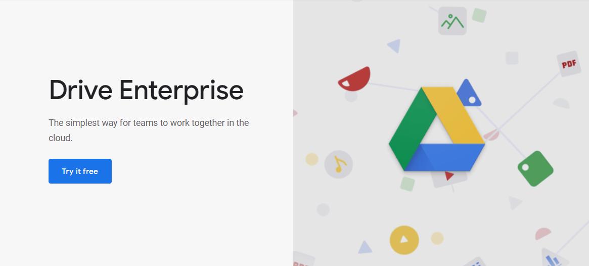 google drive homepage