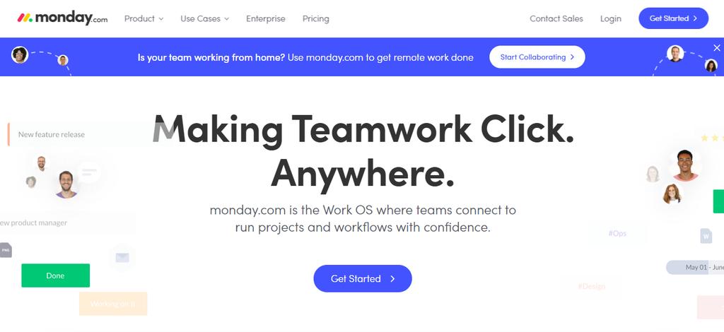 monday - teamwork application