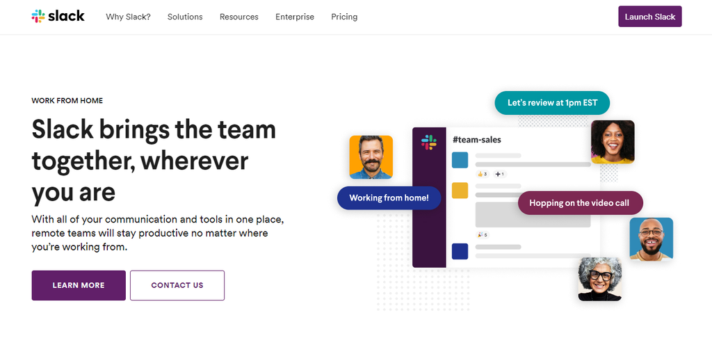 Slack teamwork application