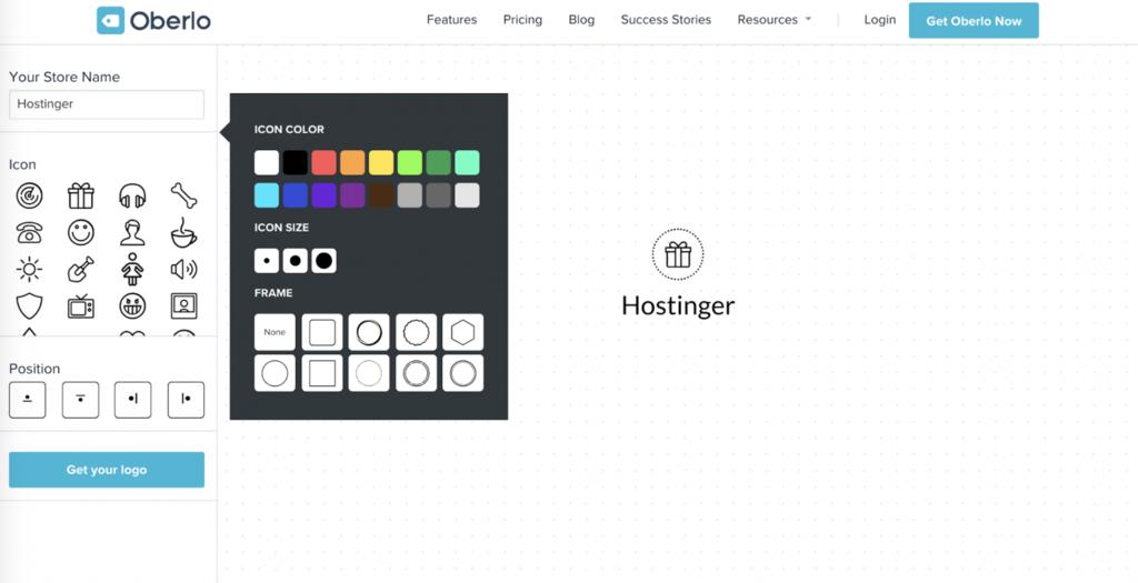 online logo design by oberlo logo maker