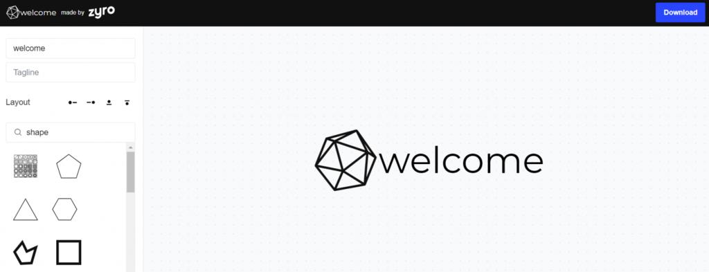 Create free logo step 1