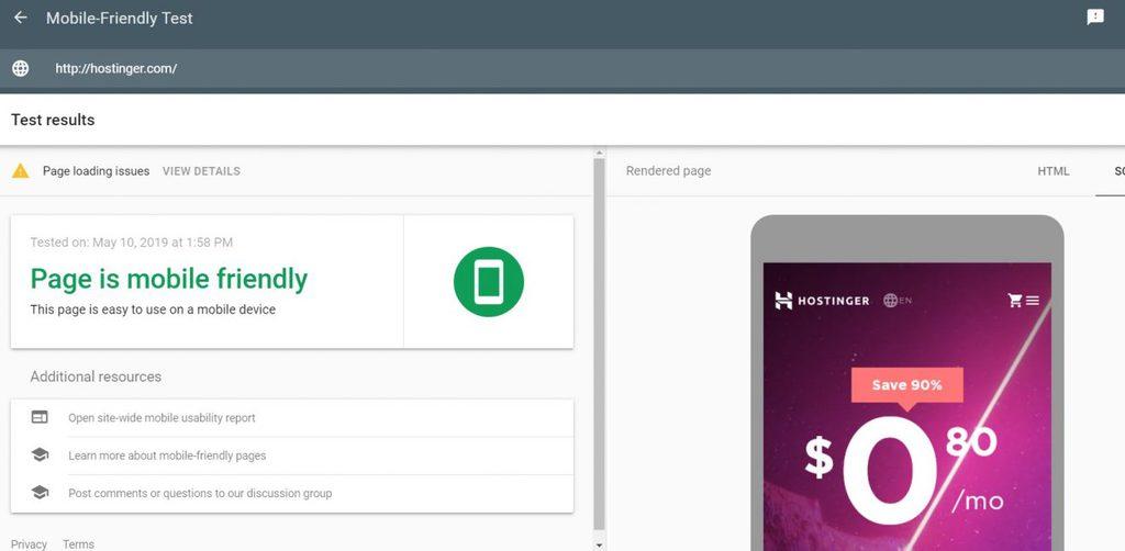 web responsive mobile friendly