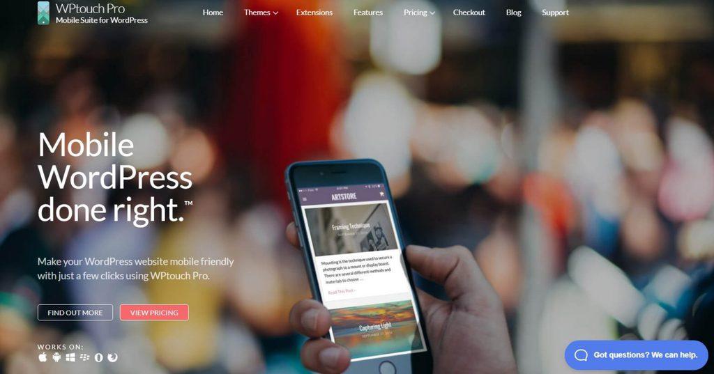 wp touch pro làm website responsive