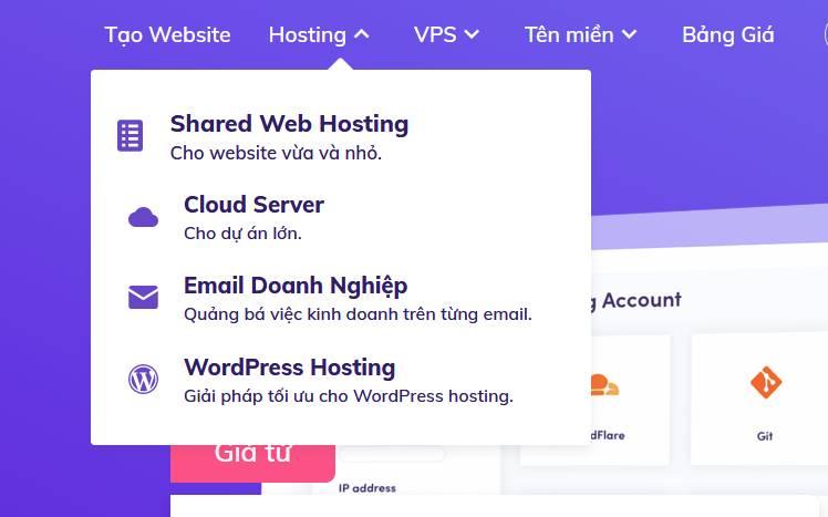 chọn gói shared web hosting