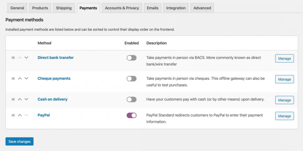 phương thức thanh toán trên shop online
