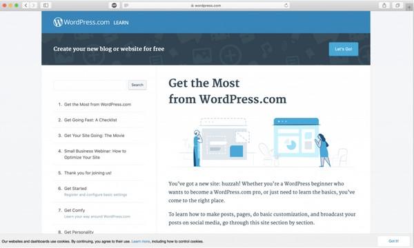 học WordPress từ trang chính thức của WordPress.org