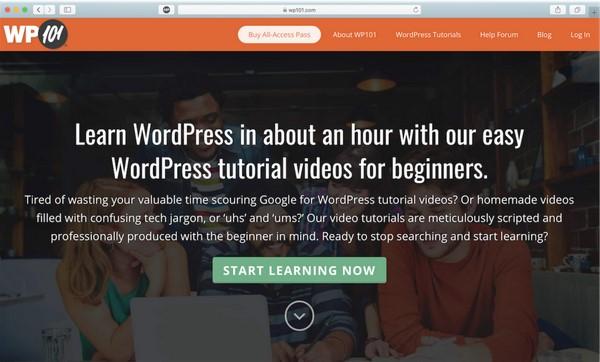 học WordPress trên wp101