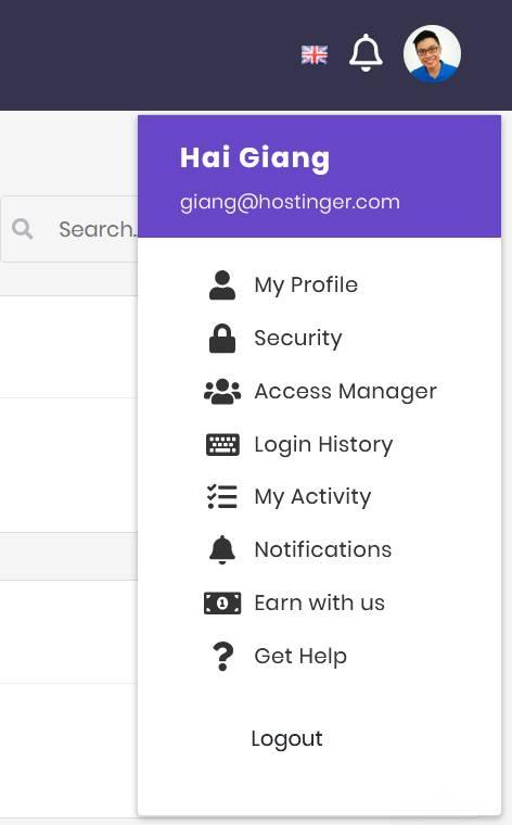 profile hostinger