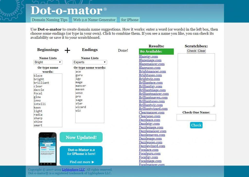 dot o matter